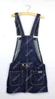Womens Washed Jeans Denim Casual Jumpsuit Romper Crimping Overall Short E1010