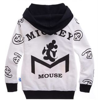 Micke Mouse Kids Toddler Boys Girls Funny Cotton Hoodies Unisex Clothes 5 6Years