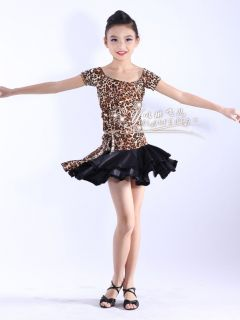 Childrens Latin Salsa Ballroom Dance Dress Girls Dancewear Costumes FY047