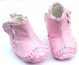 Pink Mary Jane Infant Toddler Baby Girl Shoes Boots Size 1 2 3