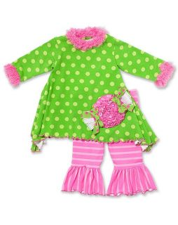 New Baby Girls Boutique Peaches N Cream 18M Candy Outfit Christmas Dress Clothes