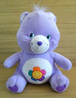 "Light Purple Harmony Sun Flower Care Bear 12"" Plush Toy"
