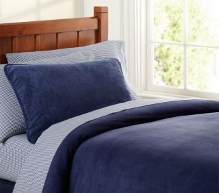 Pottery Barn Kids Navy Chamois Duvet Cover Twin