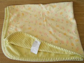 Carters Tykes Yellow Green Stripe Duck Baby Blanket