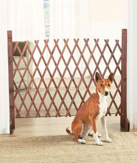 Portable Expandable Wood Pet Gate Safety Fence Trellis Dog Puppy Outdoor Indoor