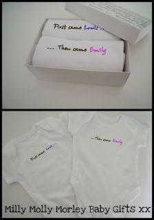 Personalised Slogan Vests for Twins in Gift Box Great Baby Twin Gift