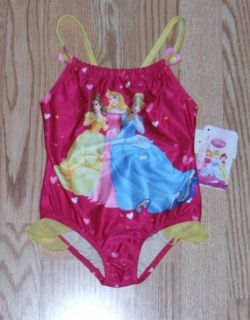 Baby Girls Sz 24M Princess 1pc Bathing Swim Suit
