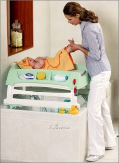 OK Baby High Quality Changing Table for Bath Bed and Crib Flat Grey