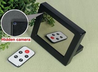 Mirror Clock Security Camera Remote Control Hidden Spy Camera DVR F8