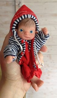 "OOAK ""Changeling"" Super Cheeky Baby Boy Mini Full Sculpt by T Walden"