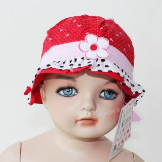 Cute Toddler Baby Girls Princess Cap Petals Bucket Sun Flower Hat for 5 30 Month