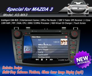 3G Internet Pip Car DVD GPS Navi Stereo HD for New Mazda 3 2010 2012 Free Camera