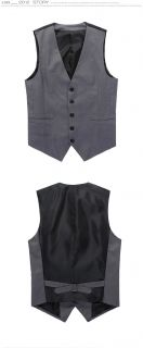 New Mens Premium Casual Dress Slim Fit Skinny Waistcoat Vest 4 Sizes N122