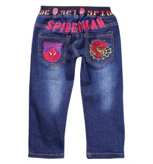 Cool Kids Toddlers Boys Girls Spider Man Cool Blue Jeans Pants Size 3 9 Years