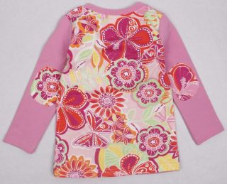Girls Pink Long Sleeve Top with Girl in Sequin Dress 18 24 2 3 3 4 4 5 5 6 Years