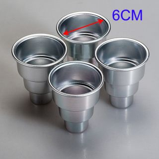 6 x Aluminum Chocolate Cake Tin 3D Pudding Pie Pan Mould Mold 2''