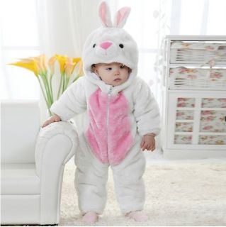 "Cute Kids Baby Girls Winter Snowsuit Fleece Hoodie Jumpsuit Outwear""Cozy Rabbit"""