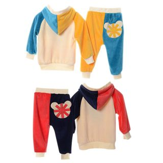 Toddler Babys Boys Girls Hoodies Outerwear Top Pant Children Clothing 2pcs Set