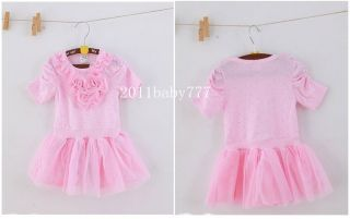 New Kids Girls Pink Dress Toddler Skirt Outfit Clothes Tutu Size 0 5years