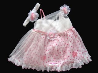 New Baby Girls Clothes Chiffon Dress Frill Polka Dots Print 3M 18M