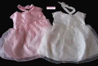 New Baby Girls Clothes Chiffon Dress Pink White