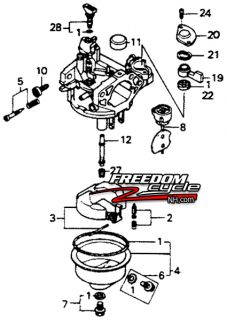 Honda Harmony H1011 HT R3811 Lawn Tractor Riding Mower Carburetor 16100 ZE9 L03