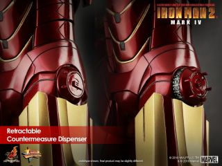 "Hot Toys 12"" Marvel Iron Man 2 MMS123 Mark 4 IV Tony Stark 1 6 Action EMS US"