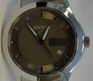 Mens Stainless Steel Gucci G Timeless Collection Watch YA126400