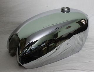 BSA Golden Flash Plunger Model Reproduction Chromed Gas Fuel Tank
