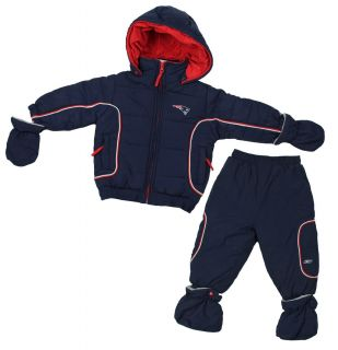 Reebok New England Patriots NFL Football Infant Snowsuit 2 Piece Jacket Pants