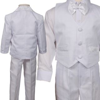 D253 5pc Set Ivory Baby Boys Communion Christening Baptism Outfits Suits