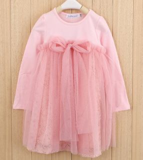 New Girls Bow Knot Top Clothing Tulle Princess Tutu Dress 2 7Y Clothes AD012