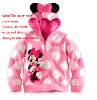 Baby Kids Girls Boys Unisex Minnie Mickey Jacket Coat Outwear Clothing Clothes