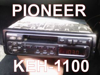 Pioneer Car Radio Cassette Player KEH1100 Flip Pop Off Front Pioneer KEH 1100