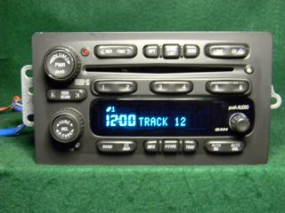 03 06 GM Chevy Tahoe Silverado Suburban CD Changer Radio 25753974 5 03 Unlock