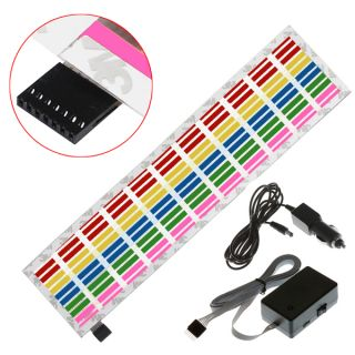 Car Sticker Music Rhythm LED Flash Light Lamp Sound Activated Equalizer 5 Size
