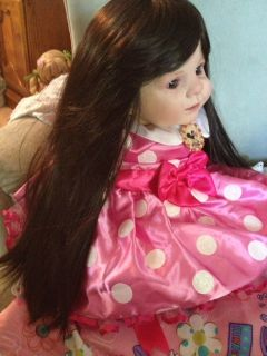 "Reborn Baby Girl Toddler""Minnie Mouse"" Gorgeous Designer EXTRAS Long Black Hair"