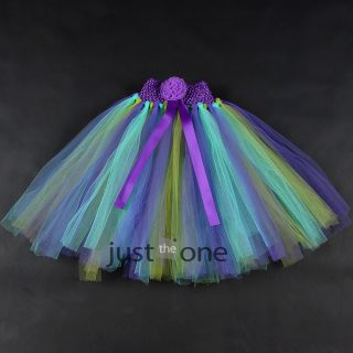 Baby Girls Kids Wedding Party Sweet Princess Halter Soft Fluffy Tutu Dress 3Y 4Y