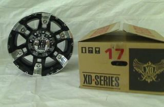 "XD Series Spy XD797 Gloss Black Machined Wheel 17x9"" 8x165 1mm"