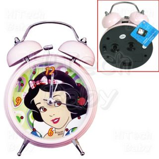 Official Disney Princess Snow White Twin Bell Alarm Bed Side Clock