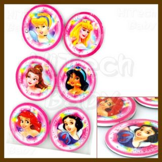 Disney Princess Magic Mirror Die Cut Paded Fridge Refrigerator Magnet 6pc