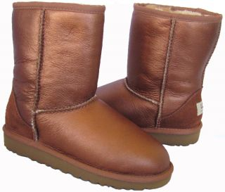 UGG Australia 5791 Classic Short Metallic Boots Big Kids 1 3