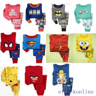Baby Toddler Kid's Boys Girls Several Style Sleepwear Pajama Set Pant Size 2T 7T