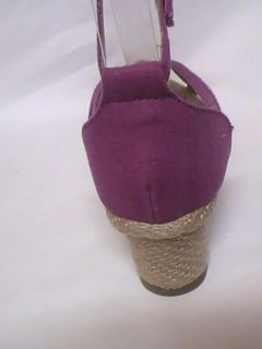 Girls Purple Espadrille Sandals THNKFL 23 Yth Sz 10
