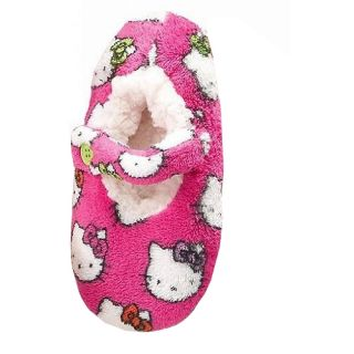 Sanrio Hello Kitty Fuzzy Babba Slipper Sock Size Medium Large