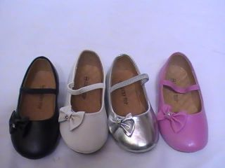 Girls Ballet Flats w Little Bow Me 80 Toddler Flower Girl Pageant Dress Shoes