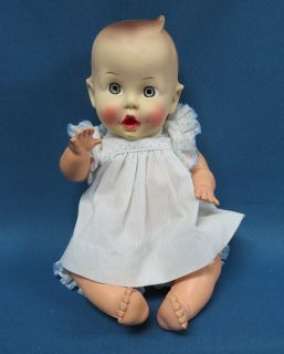 "Vintage 1950's Sun Rubber Gerber Baby Doll 11"" Jointed Very Nice"