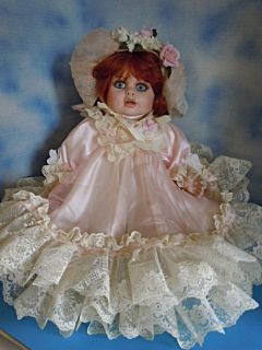 "Rustie 24"" Honey Porcelain Baby w Red Hair Welden Museum w Box Certificate"