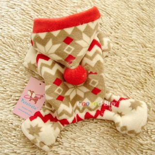 Pet Dog Puppy Apparel Clothing Christmas Snow Coat Trousers Hat XXS XS s M L