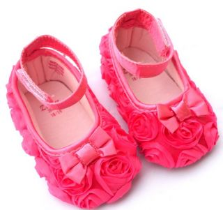 Hot Pink Mary Jane Toddler Baby Girl Shoes Size 2 3 4